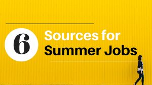 6 Sources for Finding a Summer Job
