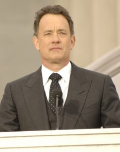 "Tom Hanks recites the orchestral work  ""Lincoln Portrait,"" written by Aaron Copland, at the Lincoln Memorial on the National Mall in Washington, D.C., Jan. 18, 2009, during the inaugural opening ceremonies. More than 5,000 men and women in uniform are providing military ceremonial support to the presidential inauguration, a tradition dating back to George Washington's 1789 inauguration.(DoD photo by Yeoman 1st Class Donna Lou Morgan, U.S. Navy/ Released)"