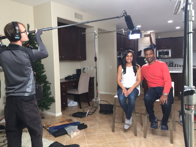 Darren Thevathasan and his wife on House Hunters