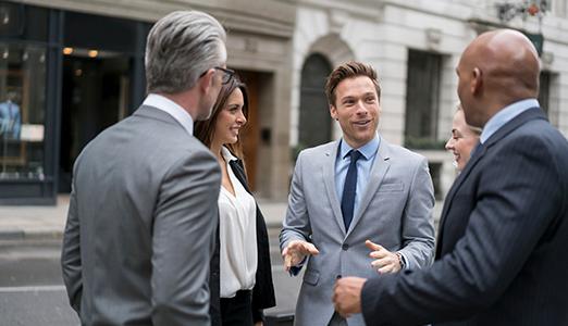 team of people discussing december's job market update